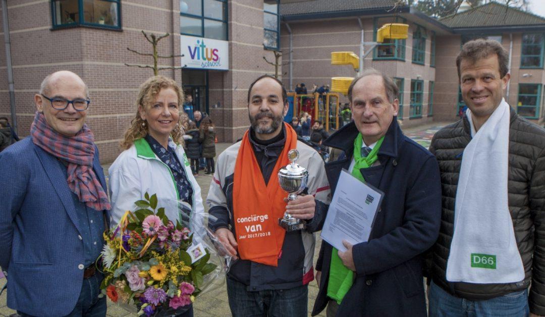 Mohamed Kadraoui van St. Vitus basisschool is 'Conciërge van het Jaar'